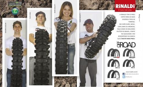 A Rinaldi tem o pneu certo para os mais diversos tipos de terreno